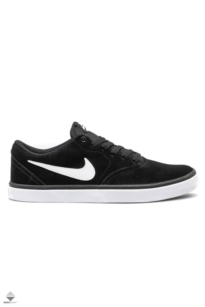 new style 53d20 b8444 Nike SB Check Solar Sneakers Black White Noir Blanc 843895-0