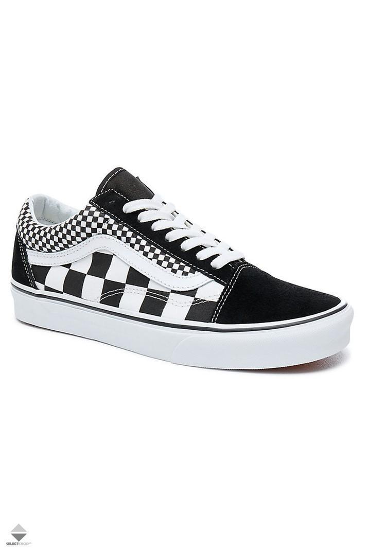 vans old skool checkerboard black