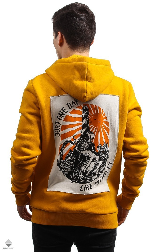 67235297a4e9 Turbokolor Infinity Patch Zip Hoodie Yellow 5620