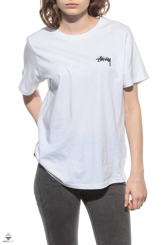 616979a8 Stussy 8 Ball Boyfriend Womens T-shirt White 2902884/1201