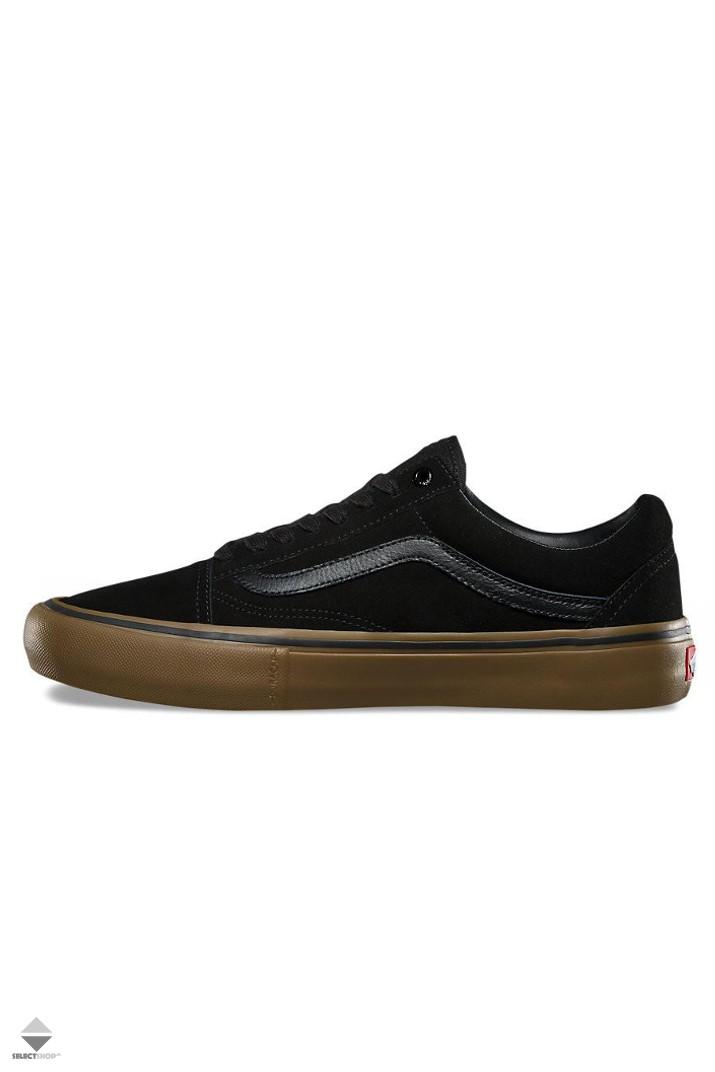 c75eb619c05ac9 Vans Old Skool Pro Sneakers Black Black Gum VNZD40UH