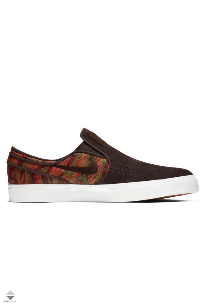 the best attitude 8fc13 956f9 Nike SB Zoom Stefan Janoski Slip-On Premium Sneakers 833582-200 VELVET  BROWN VELVET BROWN-MULTI-COLOR