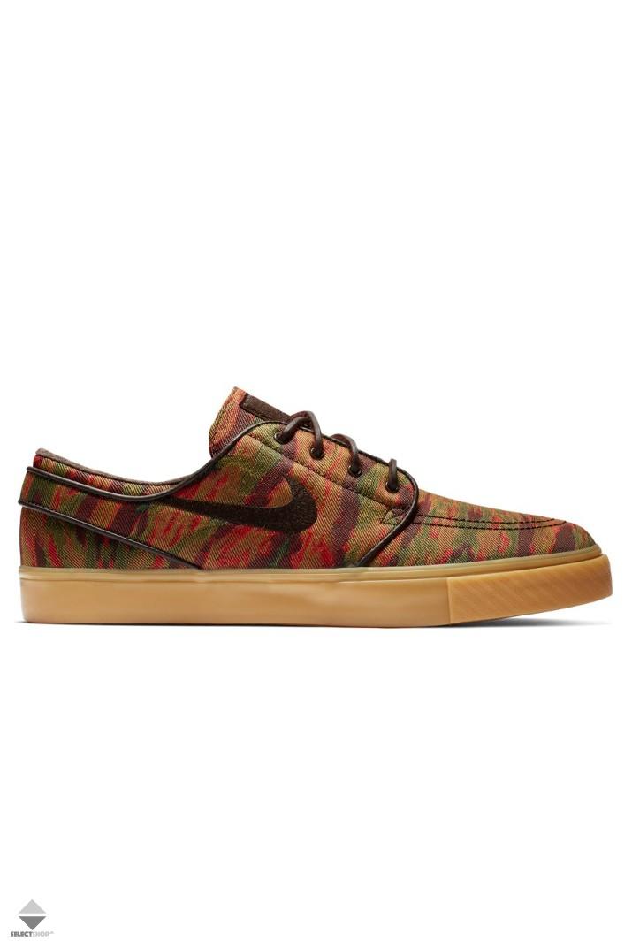 hot sale online c2da2 773b6 Nike SB Zoom Stefan Janoski Canvas Premium Sneakers 705190-900 MULTI-COLOR VELVET  BROWN-GUM YELLOW