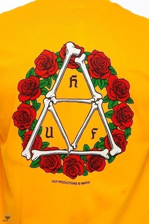 Huf X Dbc Bones Amp Roses Triple Triangle Yellow Ts00964 Gold