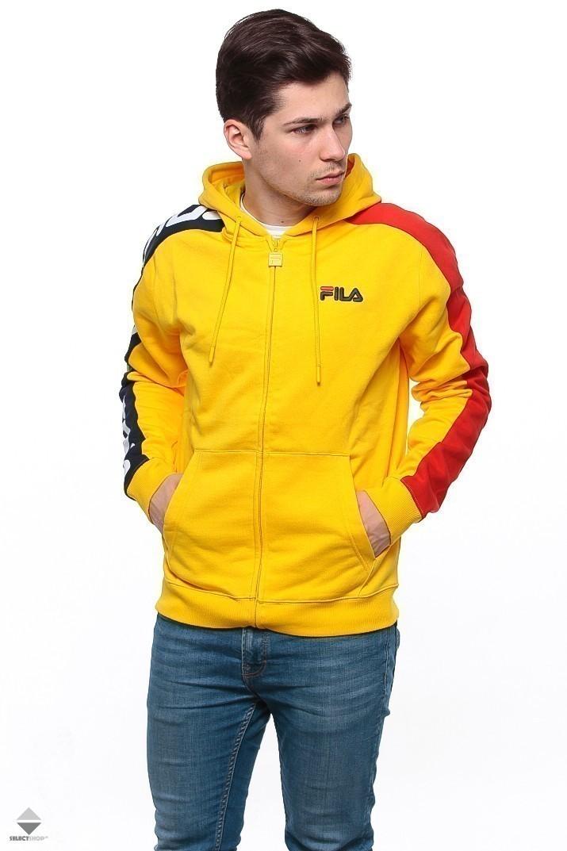 5371cb154221 Fila Stan Cut and Sew Zip Hoodie Yellow 684340-049
