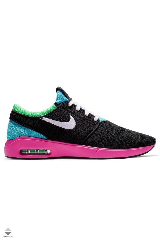 Terminología guión ligeramente  Nike SB Air Max Stefan Janoski 2 Sneakers AQ7477-006  BLACK/WHITE-CABANA-ELECTRO GREEN
