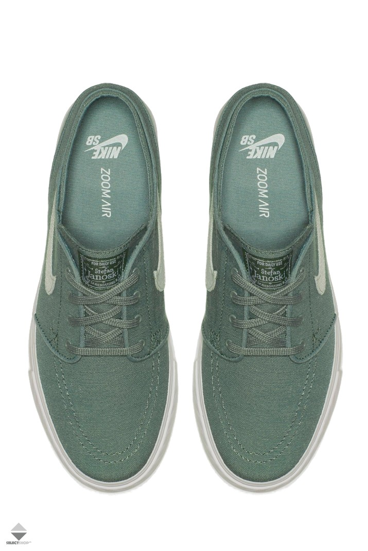 a686ca186d Nike SB Zoom Stefan Janoski Canvas Deconstructed Sneakers Clay Green ...