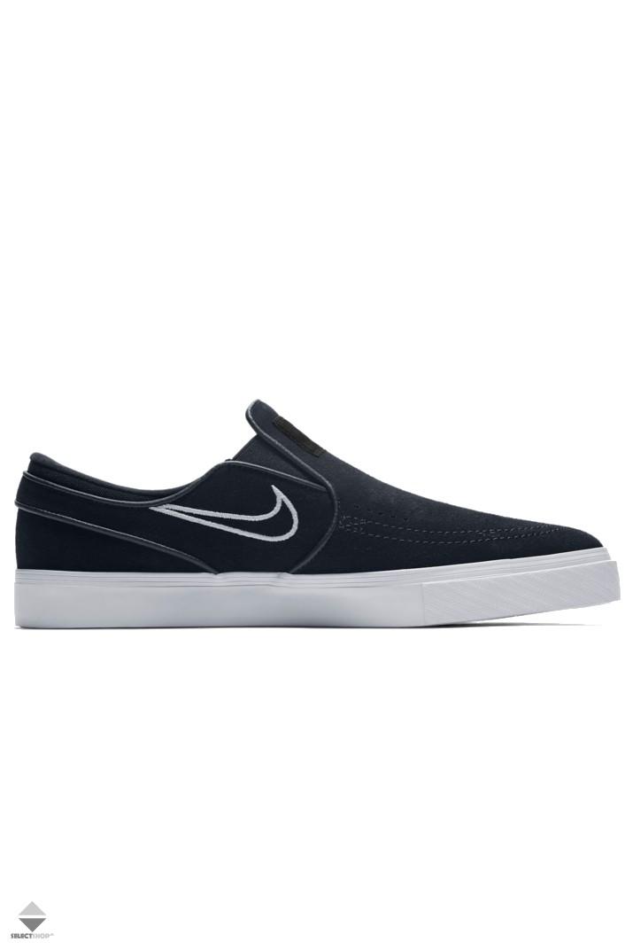 Nike SB Zoom Stefan Janoski Slip-On Sneakers Black Light Bone White 833564 -004 aed65d3309983