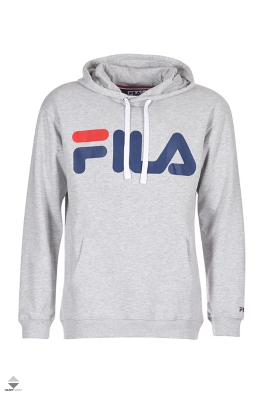 b73bb347423d Fila Classic Logo Hoodie Light Grey 681462-B13