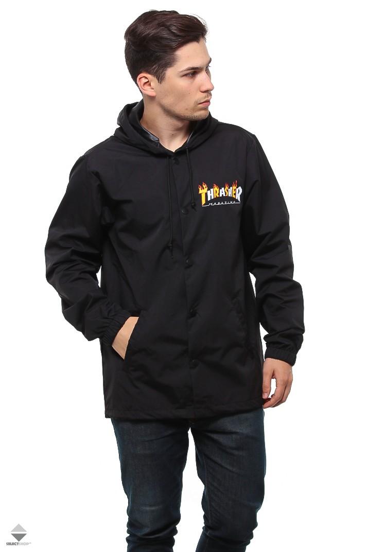 5fedcdc62385 Thrasher Flame Mag Coach Jacket Black