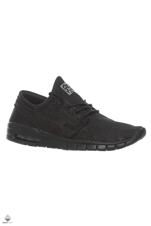 new style 1690f 2c49a Nike Stefan Janoski Max Premium Sneakers Black Black Photo 807497-004