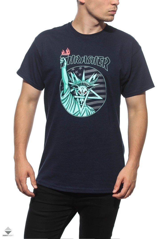 ce8e12d655dc Thrasher Liberty Goat T-shirt Blue 144525