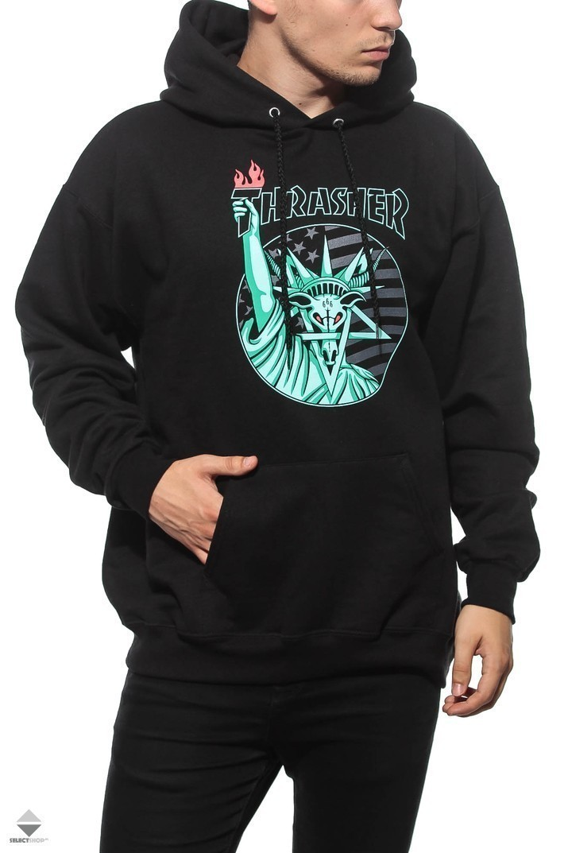 372260ec3ecd Thrasher Liberty Goat Hoodie Black 14526