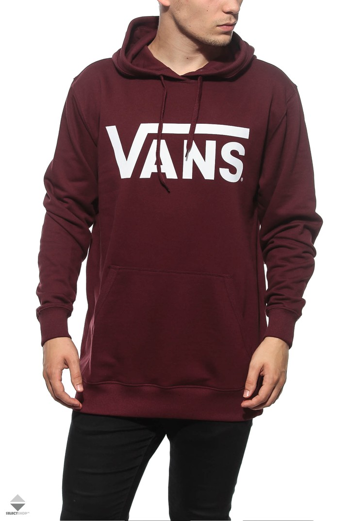 vans burgundy jumper