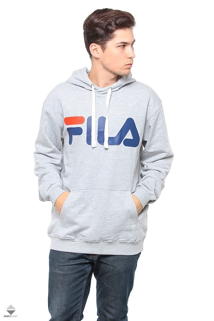 402fb7249d7f Fila Classic Logo Hoodie Light Grey Melange 681462-B13