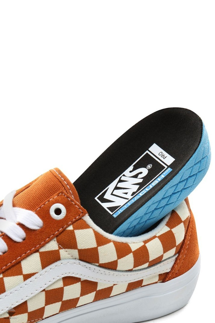 half off check out look for Vans Old Skool Pro Checkerboard Sneakers