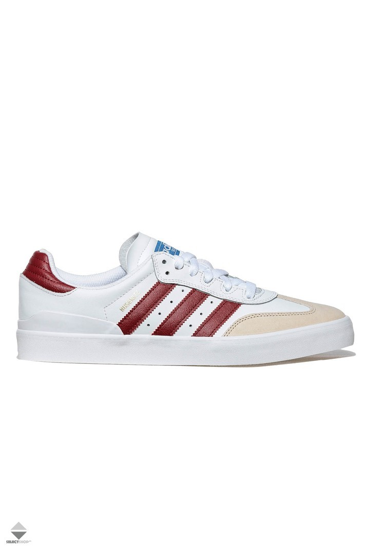 promo code 230bd ea7c9 Adidas Busenitz Vulc RX Sneakers WhiteCollegiate BurgundyBluebird BY3981