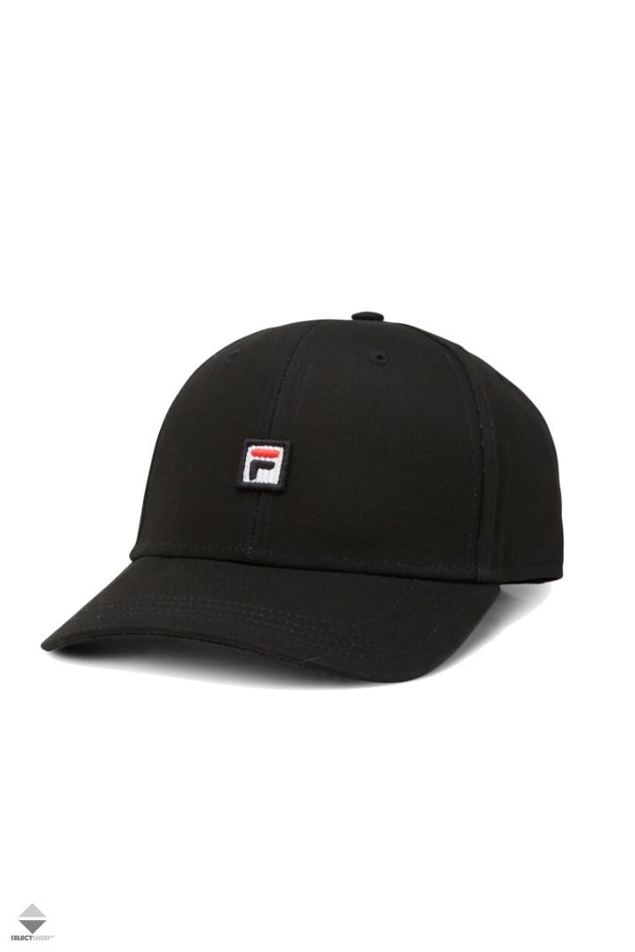 c0cd261a53d Fila 6 Panel Cap Strap Back Black 681479-002
