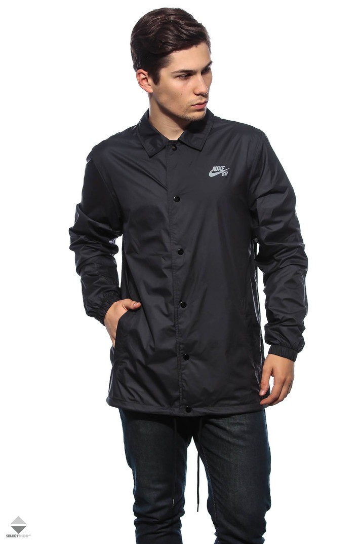 2923ae8f12f0 Nike SB Shield Coaches Windbreaker Black 829509-010