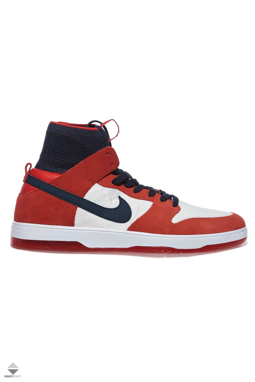 02b3b1e96e7a Nike SB Zoom Dunk Hight Elite Sneakers Red White Ink 917567-641