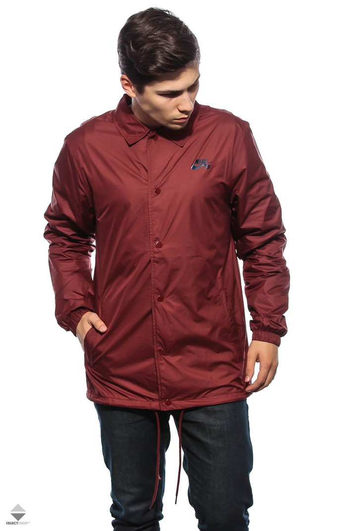 fb69bb16e5b9 Nike SB Shield Coaches Jacket Maroon 829509-619
