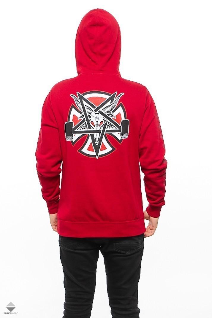 b00534b5a2b9 Independent X Thrasher Pentagram Cross Hoodie Garnet