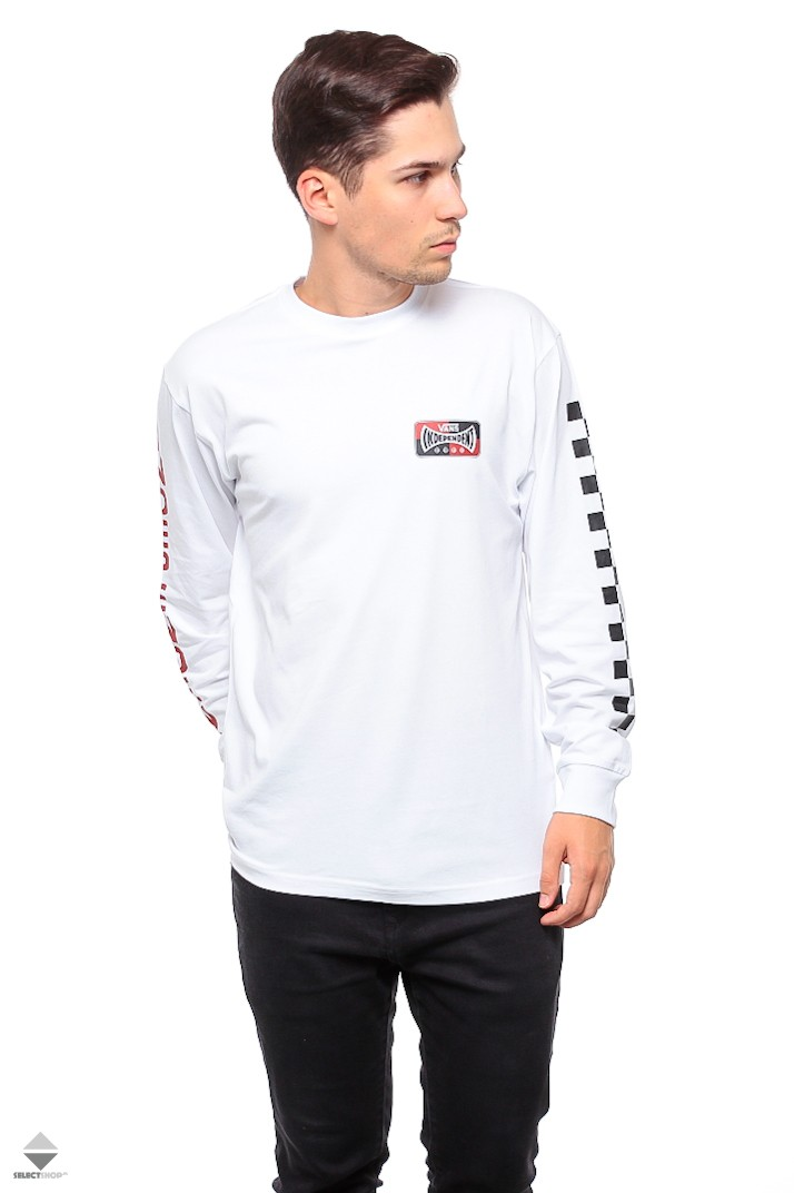 a3325bc7e Vans X Independent Checkerboard Longsleeve VA3HS1WHT White