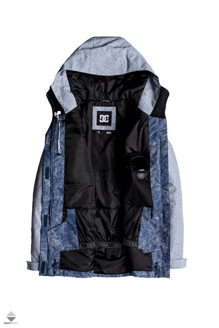 94b0540d627 DC Shoes Cruiser Women s Snow Jacket Dark Blue Acid Wash Denim ...