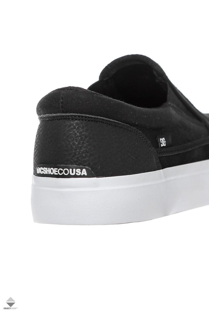 feb9964890f DC Shoes Trase Slip-On S RT Black White ADYS300357-BKW