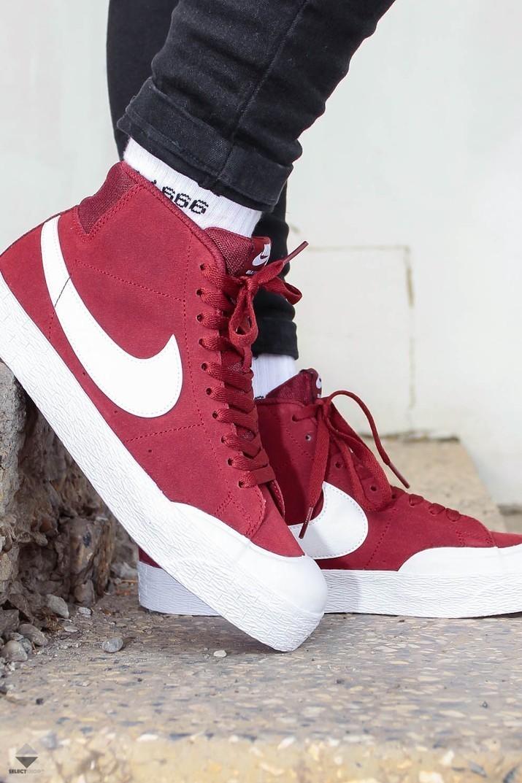 52d01a7ab3e2 Nike SB Blazer Zoom Mid XT Sneakers Dark Team Red White EQ Rouge ...