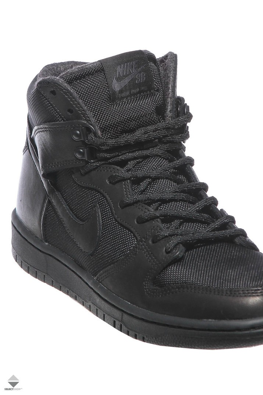 online store 574b0 c9f9f Nike SB Zoom Dunk Hight Pro Bota Winter Boots 923110-001 Black Black