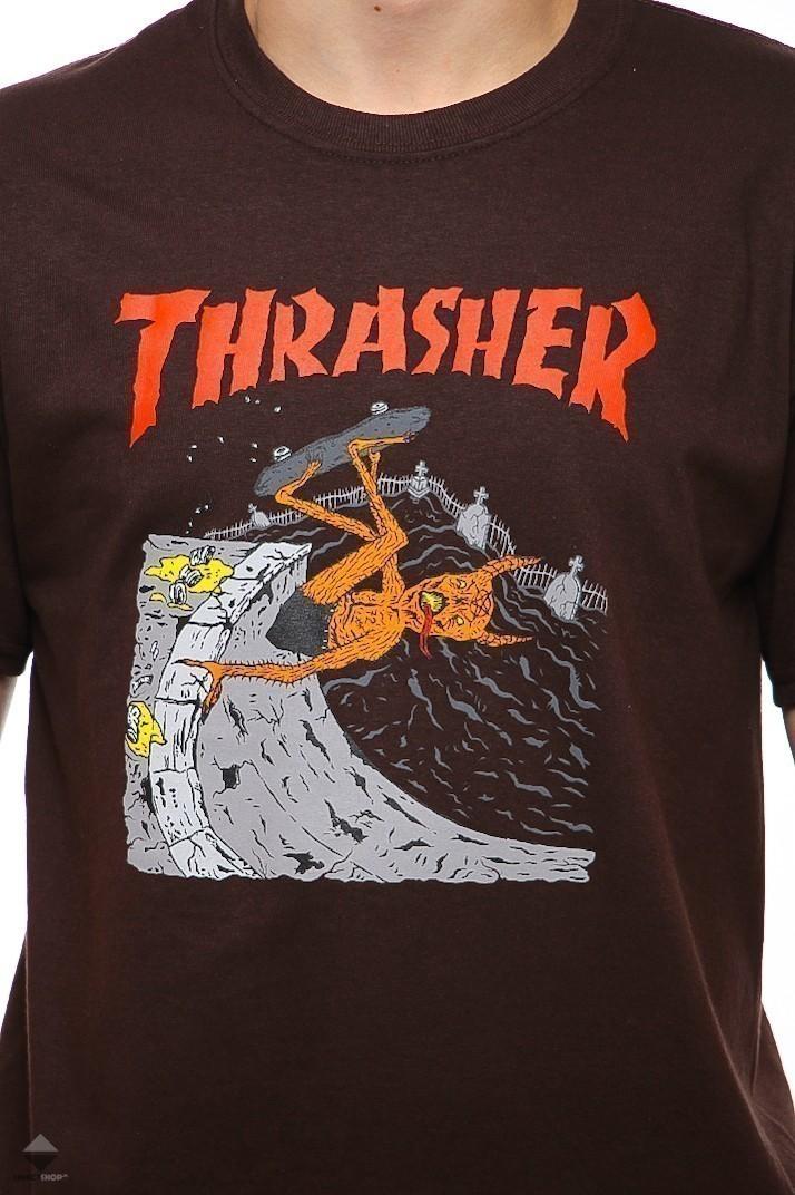 40620fe5a9a0 Thrasher Neckface Invert T-shirt Brown