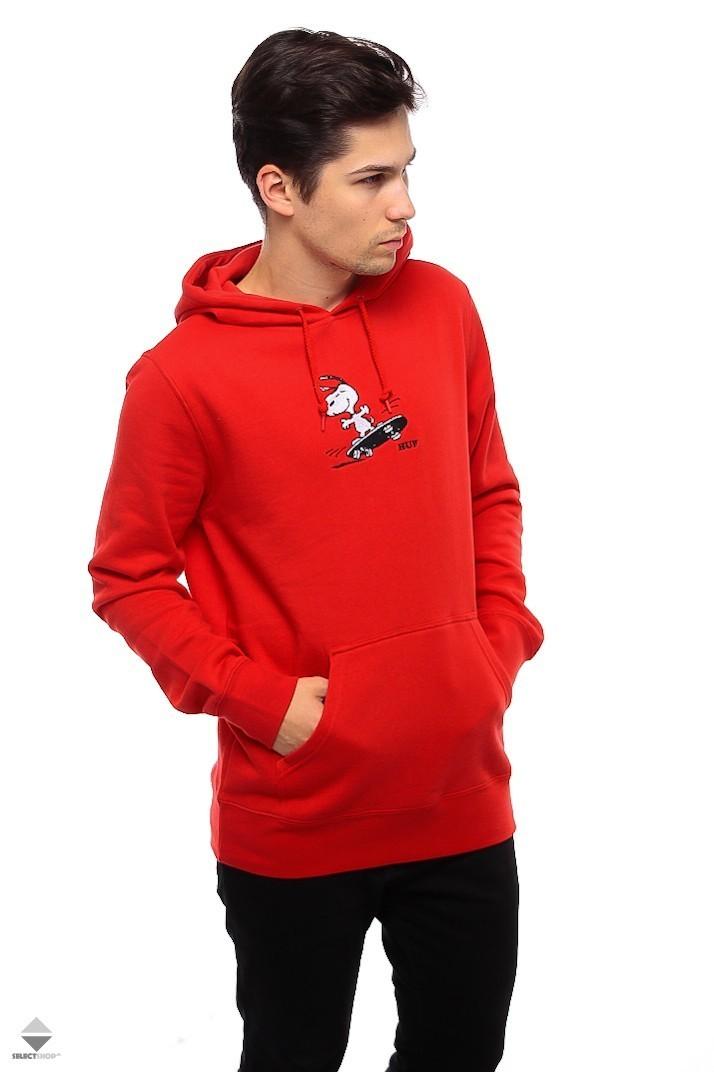 6a18cc90dd HUF X Peanuts Snoopy Skates Hoodie Red PF00122