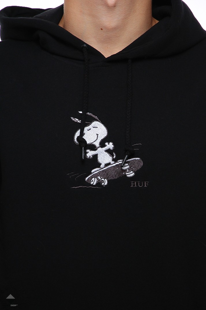 ef152d8580 HUF X Peanuts Snoopy Skates Hoodie Black PF00122