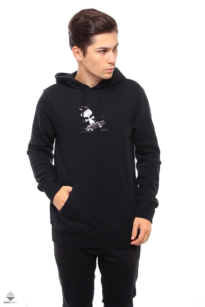 e1ae765bb4 HUF X Peanuts Snoopy Skates Hoodie Black PF00122