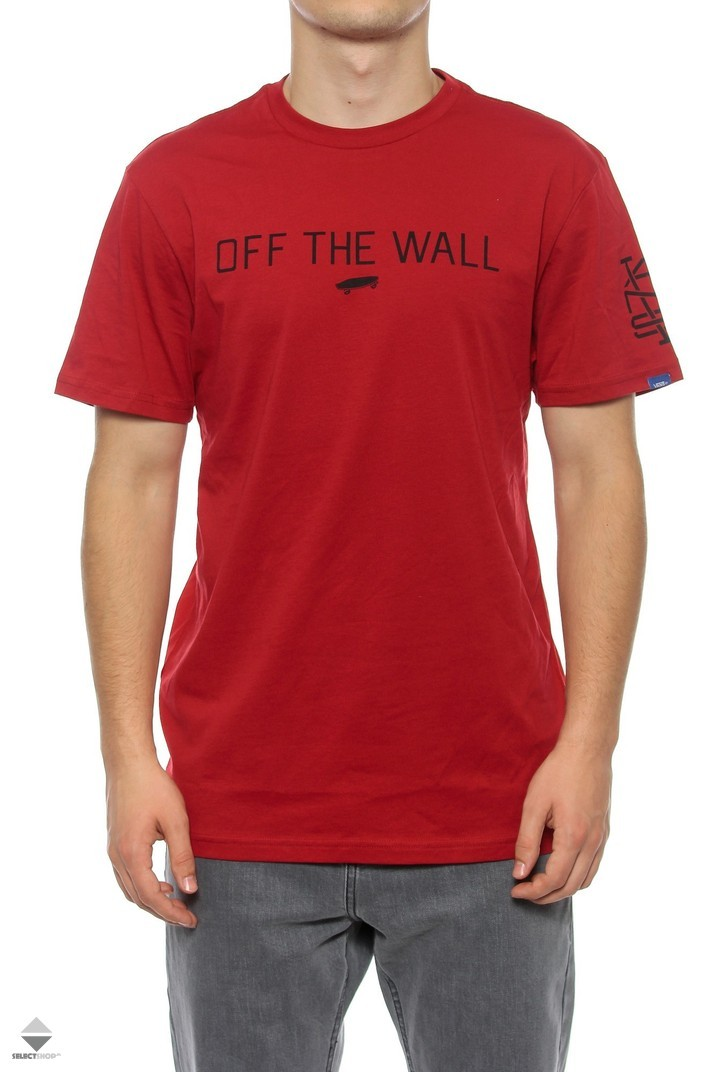 0152c6c3fd2 Vans Off The Wall Bf T Shirt Red Vvi4car. Vans Red Dahlia Bright White Otw  ...