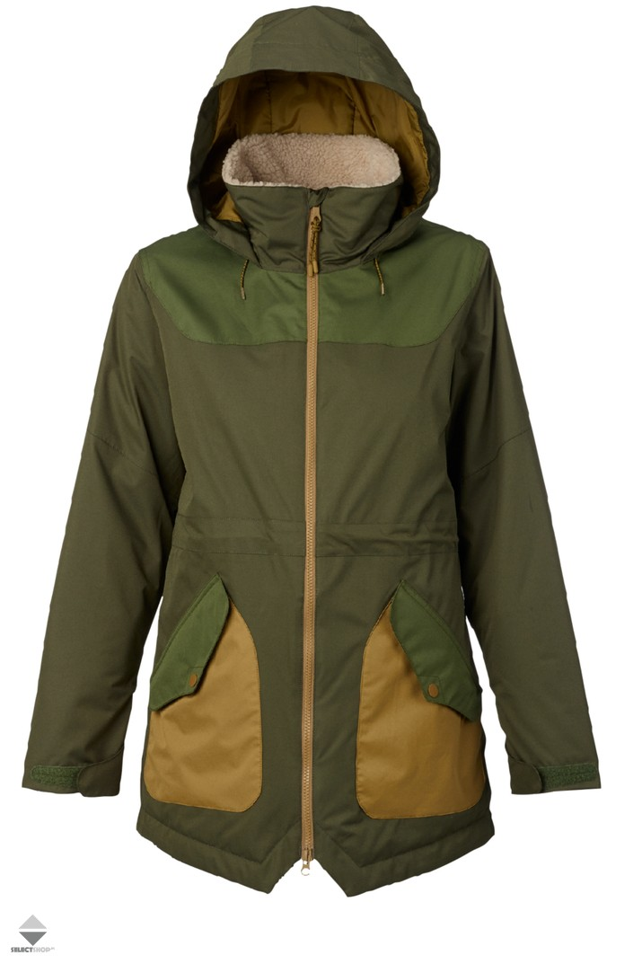 4bc7e82434d Burton Prowess Womens Snow Jacket Forest Night Rifle Green